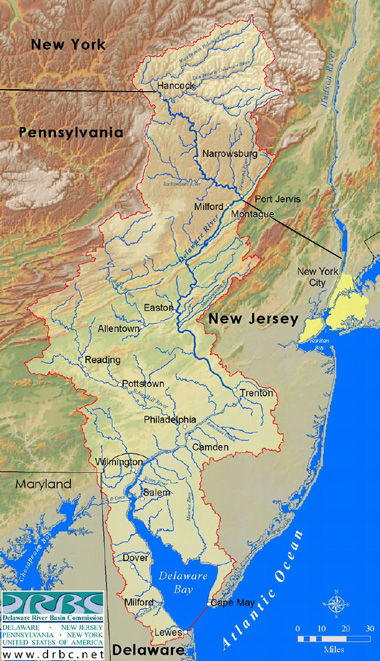 Paddlers Guide To The Delaware River Conditions - Delaware river on us map